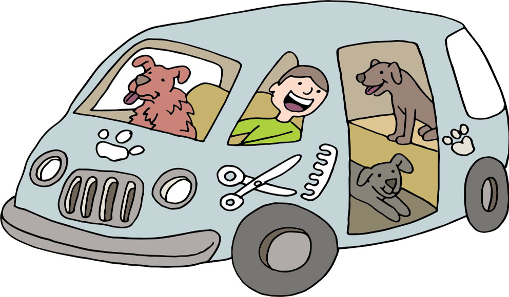 mobile pet grooming Walton